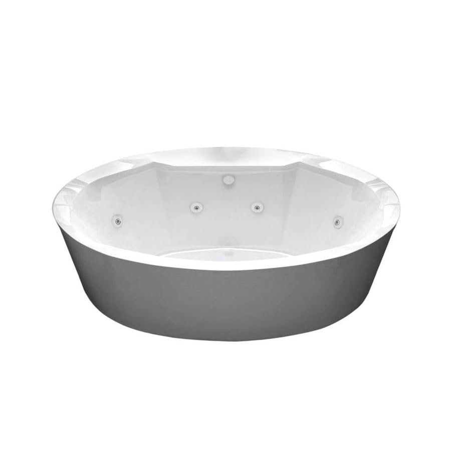 Endurance Endurance White Acrylic Oval Whirlpool Tub (Common: 72-in x 36-in; Actual: 24-in x 33.8-in x 67.3-in)