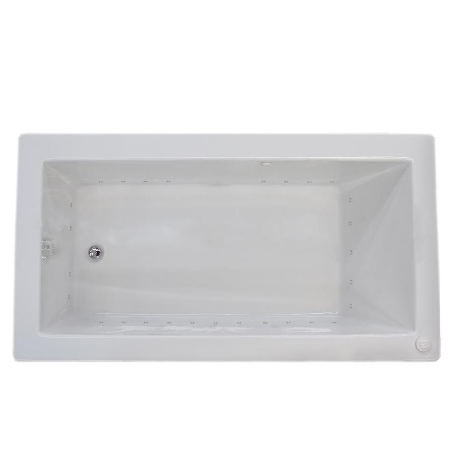 Endurance Peregrine 32-in White Acrylic Drop-In Air Bath with Left-Hand Drain