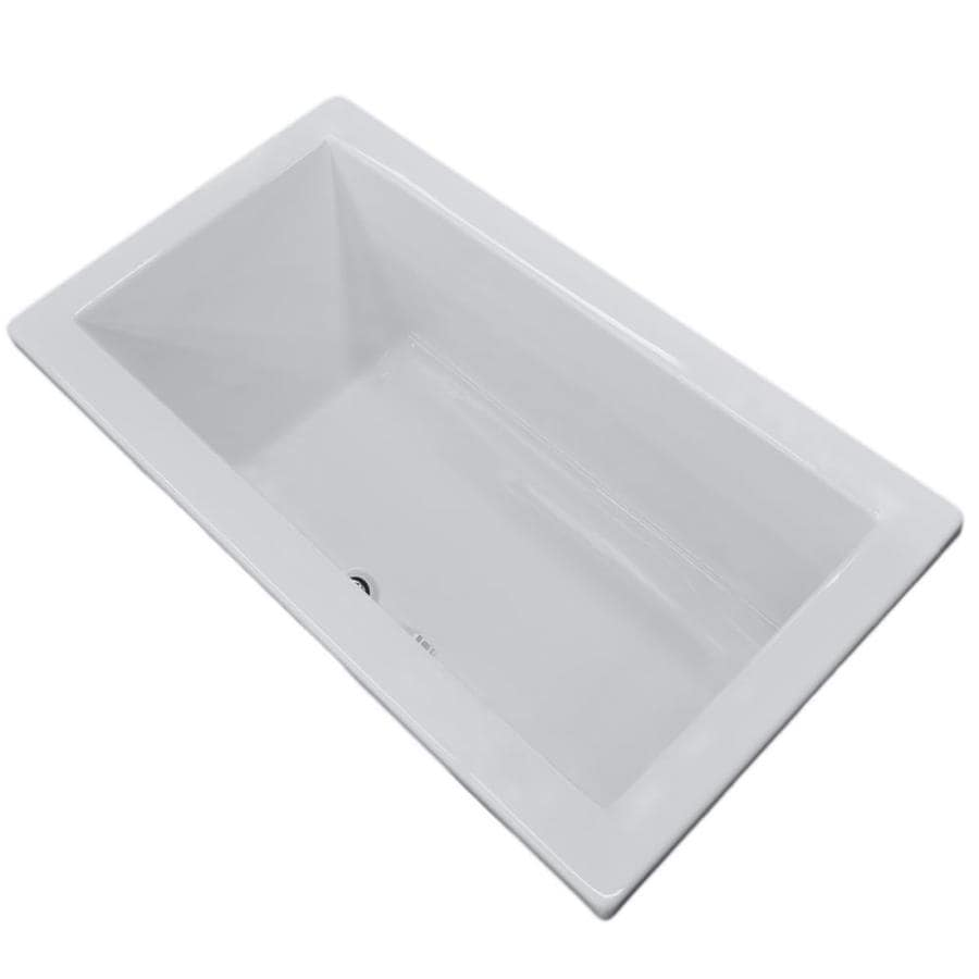 Endurance Peregrine Acrylic Rectangular Drop-in Bathtub with Center Drain (Common: 42-in x 72-in; Actual: 23-in x 42-in x 72-in)