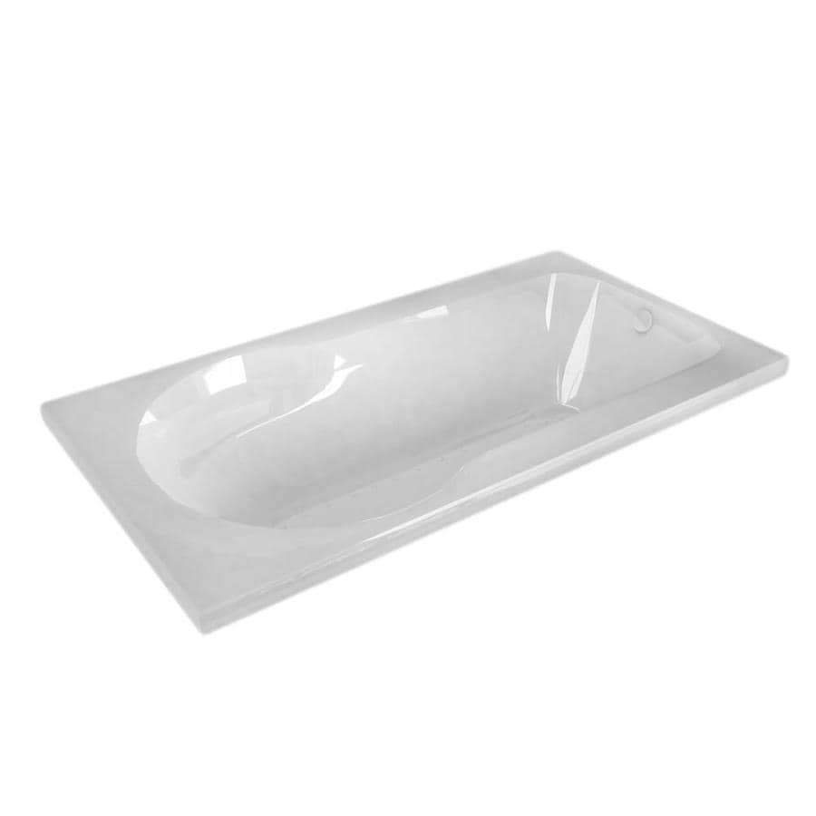 Endurance Willow 53.5-in White Acrylic Drop-In Air Bath with Right-Hand Drain