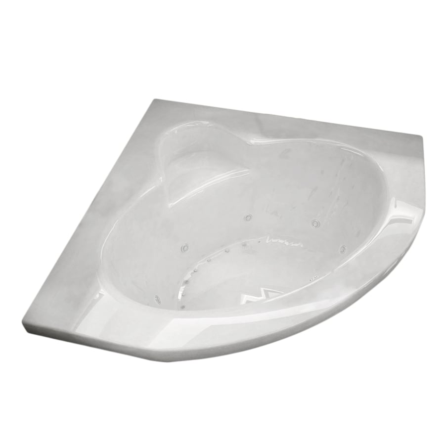 Endurance Eagle 59.75-in White Acrylic Drop-In Whirlpool Tub And Air Bath with Center Drain