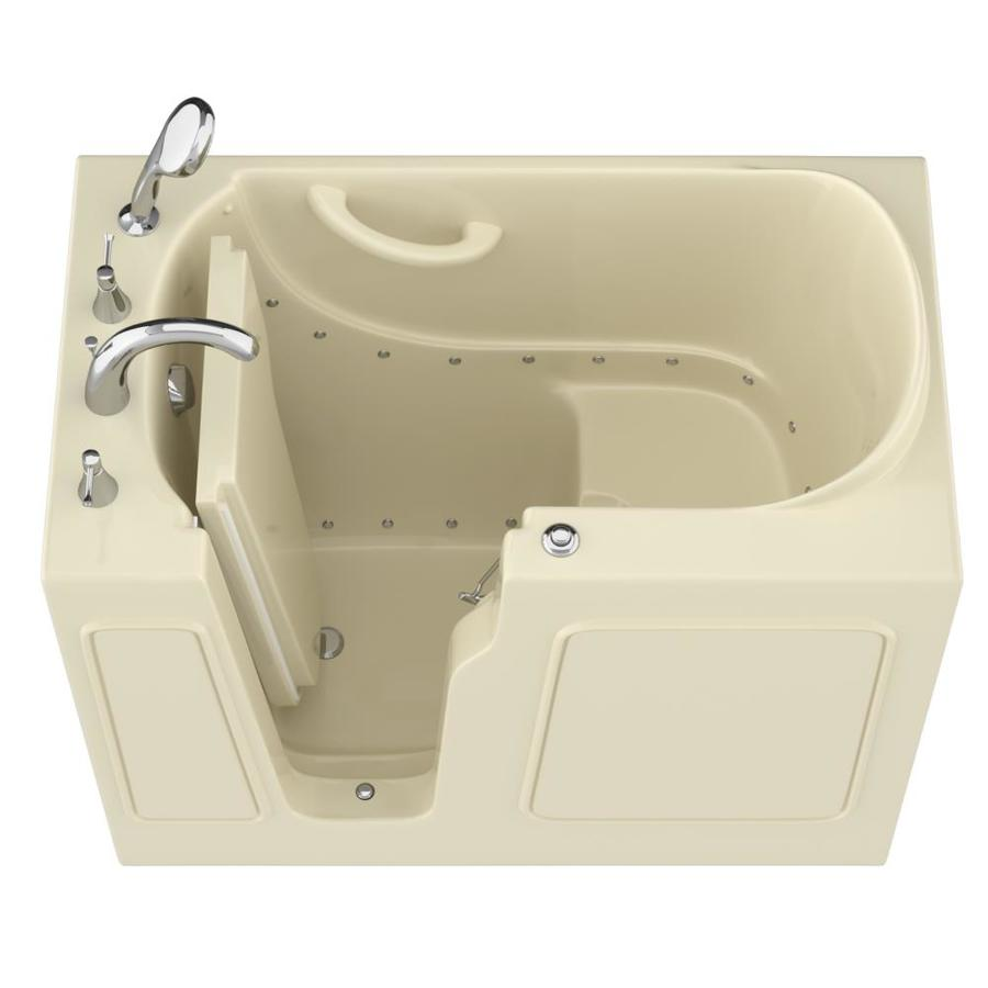 Endurance 46-in Biscuit Gelcoat/Fiberglass Walk-In Air Bath with Left-Hand Drain