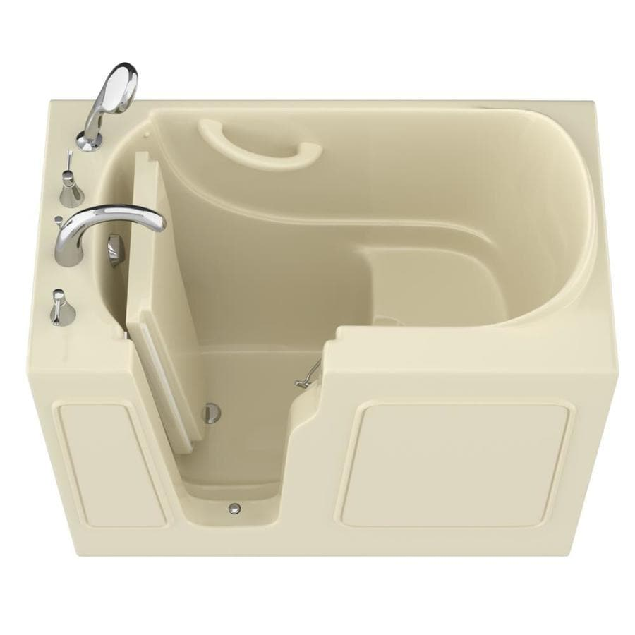 Endurance Gelcoat and Fiberglass Rectangular Walk-in Bathtub with Left-Hand Drain (Common: 60-in x 30-in; Actual: 38-in x 46-in x 26-in)