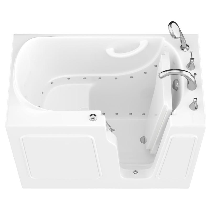 Endurance 46-in L x 26-in W x 38-in H White Gelcoat and Fiberglass Rectangular Walk-in Air Bath