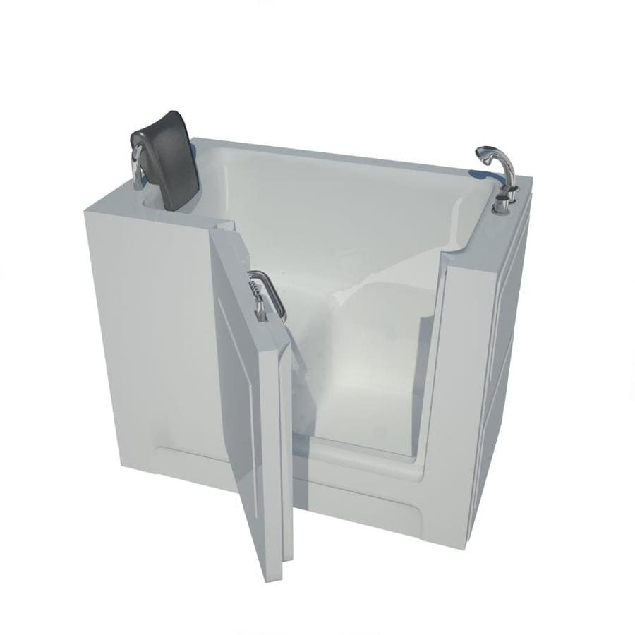 Endurance 27-in White Acrylic Walk-In Bathtub with Right-Hand Drain