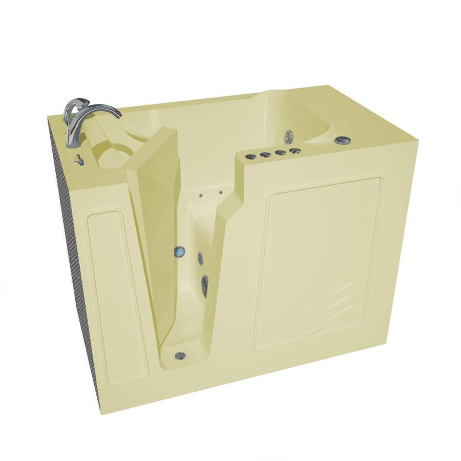 Endurance 52-in Biscuit Gelcoat/Fiberglass Walk-In Whirlpool Tub and Air Bath with Left-Hand Drain