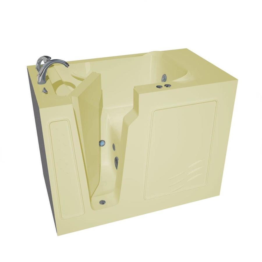 Endurance Biscuit Gelcoat and Fiberglass Rectangular Walk-in Whirlpool Tub (Common: 60-in x 30-in; Actual: 40-in x 52-in x 29-in)
