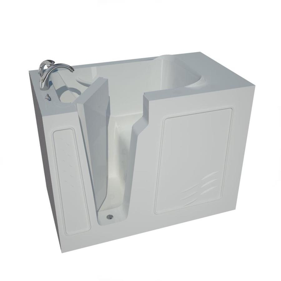 Endurance 29-in White Gelcoat/Fiberglass Walk-In Bathtub with Left-Hand Drain