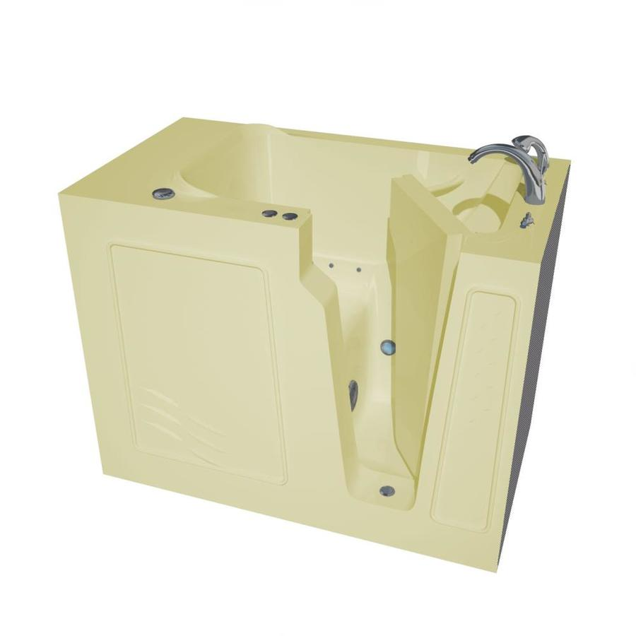 Endurance 52-in Biscuit Gelcoat/Fiberglass Walk-In Air Bath with Right-Hand Drain