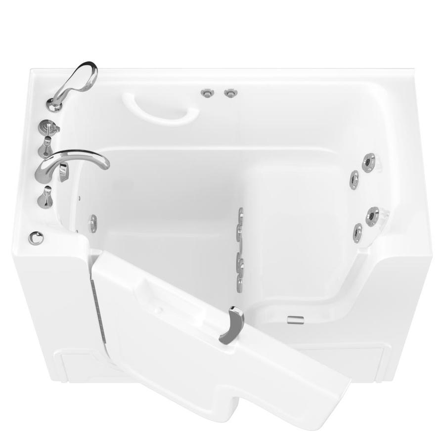 Endurance White Gelcoat and Fiberglass Rectangular Walk-in Whirlpool Tub (Common: 60-in x 30-in; Actual: 42-in x 53-in x 29-in)