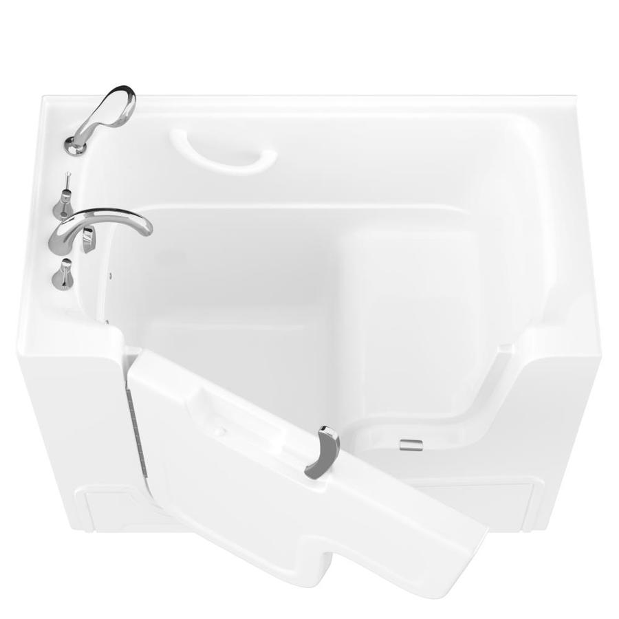 Endurance Gelcoat and Fiberglass Rectangular Walk-in Bathtub with Left-Hand Drain (Common: 60-in x 30-in; Actual: 42-in x 53-in x 29-in)