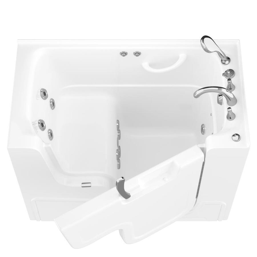 Endurance 29-in White Gelcoat/Fiberglass Walk-In Whirlpool Tub with Right-Hand Drain