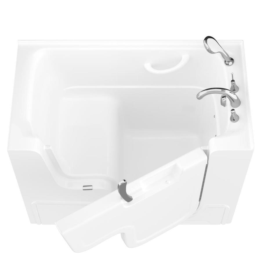 Endurance 29-in White Gelcoat/Fiberglass Walk-In Bathtub with Right-Hand Drain