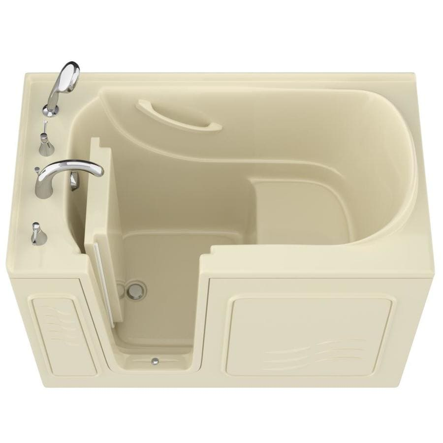 Endurance Gelcoat and Fiberglass Rectangular Walk-in Bathtub with Left-Hand Drain (Common: 60-in x 30-in; Actual: 38-in x 53-in x 30-in)