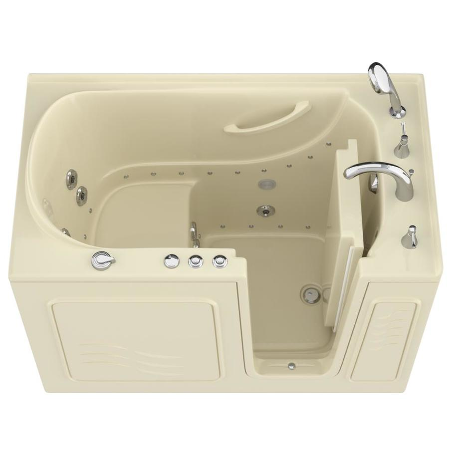 Shop endurance 30 in biscuit gelcoat fiberglass walk in Fiberglass garden tubs