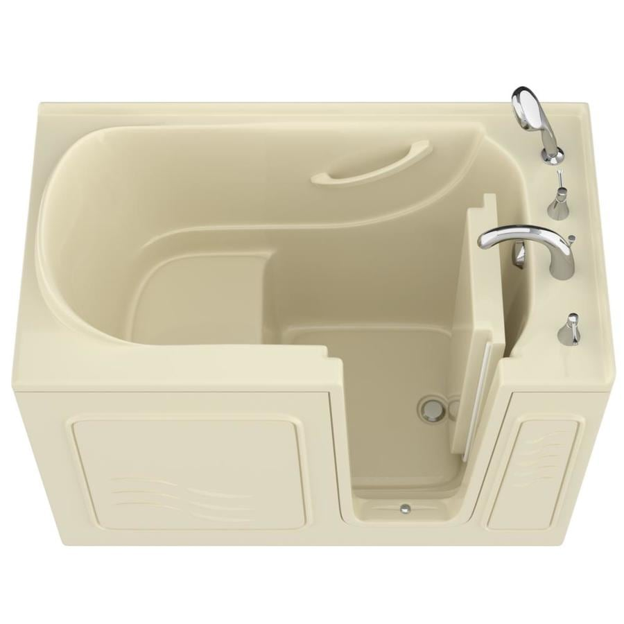 Endurance Gelcoat and Fiberglass Rectangular Walk-in Bathtub with Right-Hand Drain (Common: 60-in x 30-in; Actual: 38-in x 53-in x 30-in)