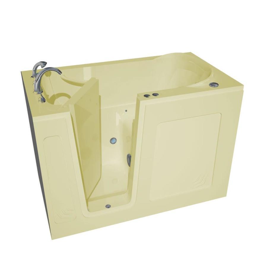 Endurance 54-in L x 30-in W x 37-in H Biscuit Acrylic Rectangular Walk-in Air Bath