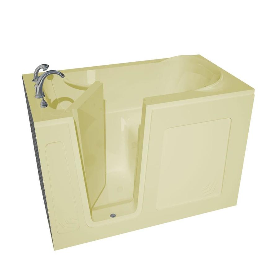 Endurance Acrylic Rectangular Walk-in Bathtub with Left-Hand Drain (Common: 54-in x 30-in; Actual: 37-in x 54-in x 30-in)