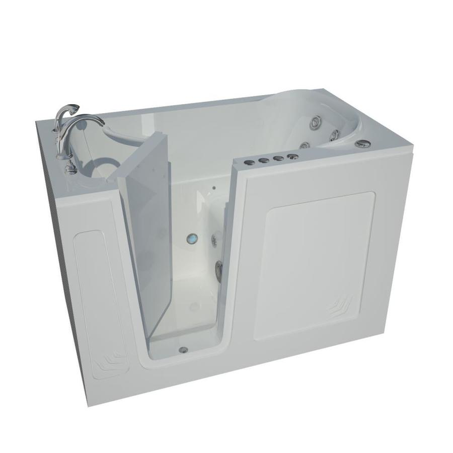 Endurance 54-in L x 30-in W x 37-in H White Acrylic Rectangular Walk-in Whirlpool Tub and Air Bath