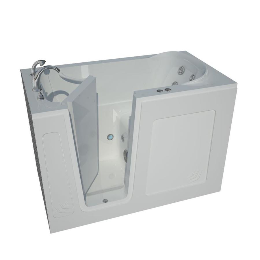Endurance White Acrylic Rectangular Walk-in Whirlpool Tub (Common: 60-in x 30-in; Actual: 37-in x 54-in x 30-in)