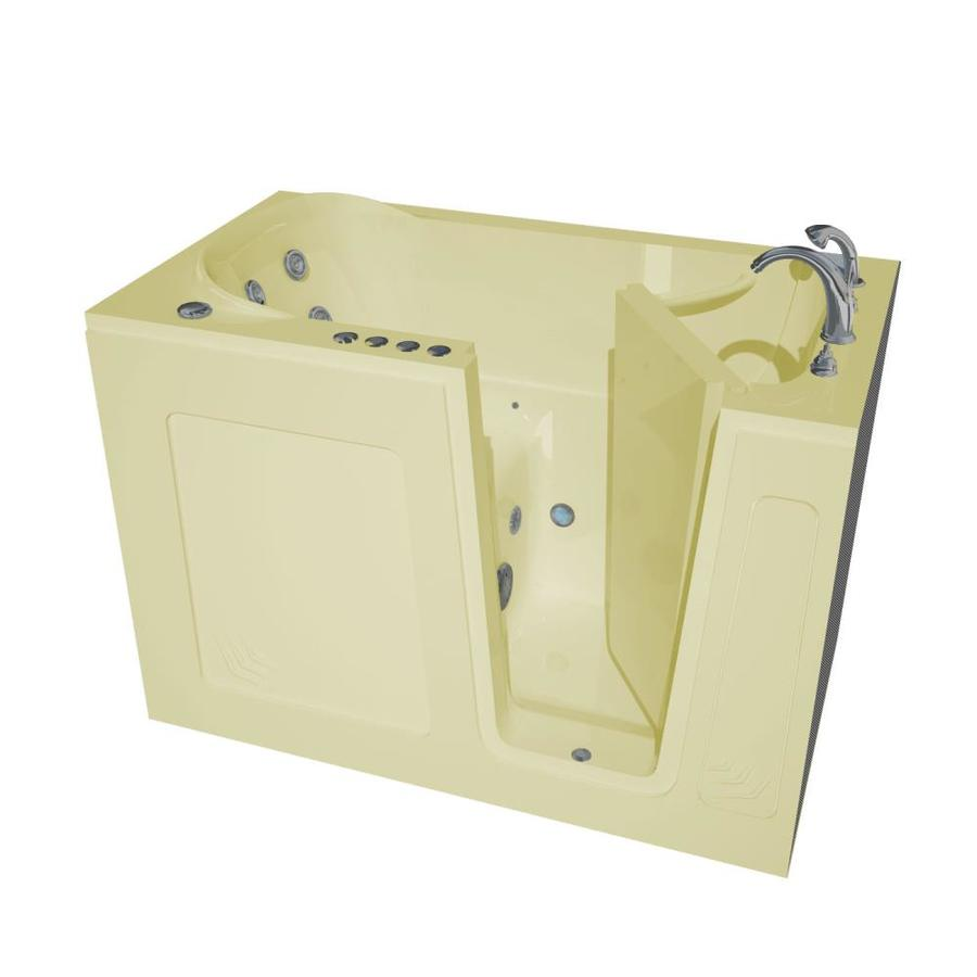 Endurance 54-in Biscuit Acrylic Walk-In Whirlpool Tub and Air Bath with Right-Hand Drain
