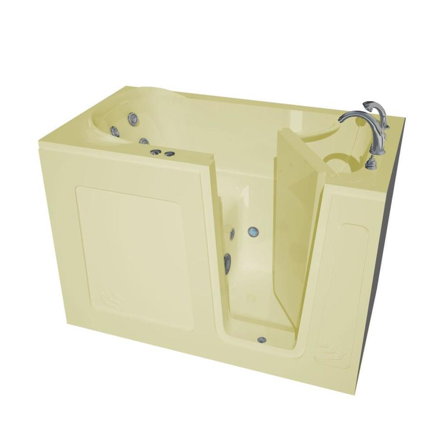 Endurance Biscuit Acrylic Rectangular Walk-in Whirlpool Tub (Common: 60-in x 30-in; Actual: 37-in x 54-in x 30-in)