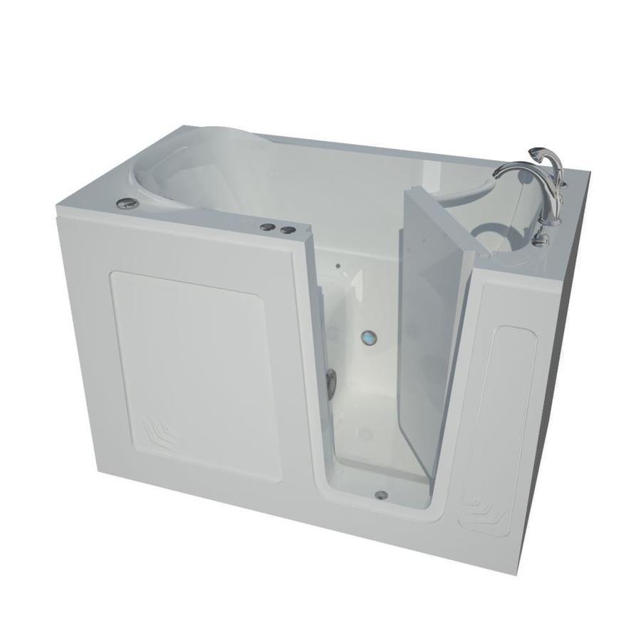 Endurance 54-in White Acrylic Walk-In Air Bath with Right-Hand Drain