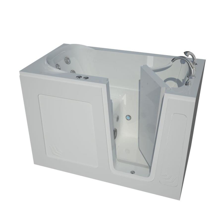 Endurance 30-in White Acrylic Walk-In Whirlpool Tub with Right-Hand Drain
