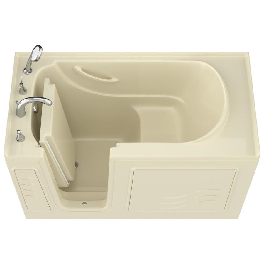 Endurance Gelcoat and Fiberglass Rectangular Walk-in Bathtub with Left-Hand Drain (Common: 60-in x 30-in; Actual: 38-in x 60-in x 30-in)
