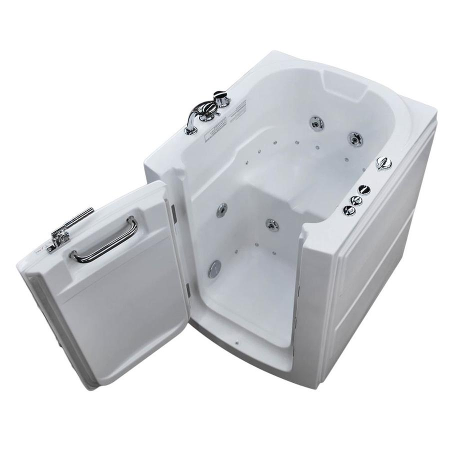 Endurance 38-in L x 32-in W x 38-in H White Acrylic Rectangular Walk-in Whirlpool Tub and Air Bath
