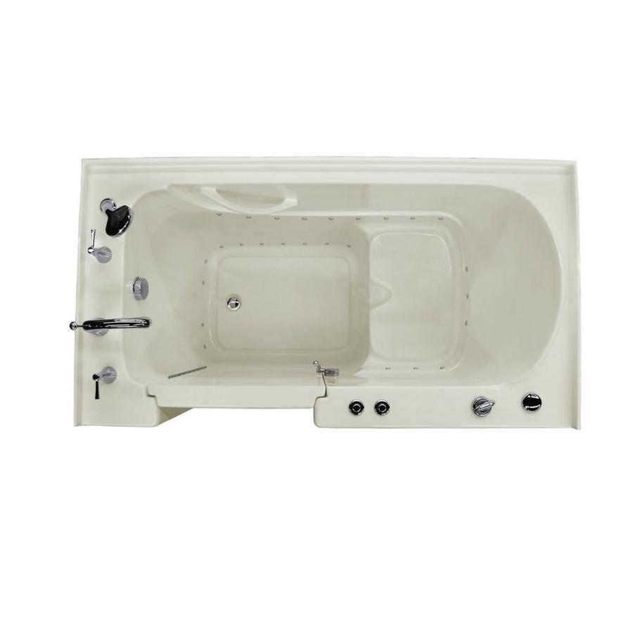 Endurance 60-in L x 32-in W x 40-in H Biscuit Acrylic Rectangular Walk-in Air Bath
