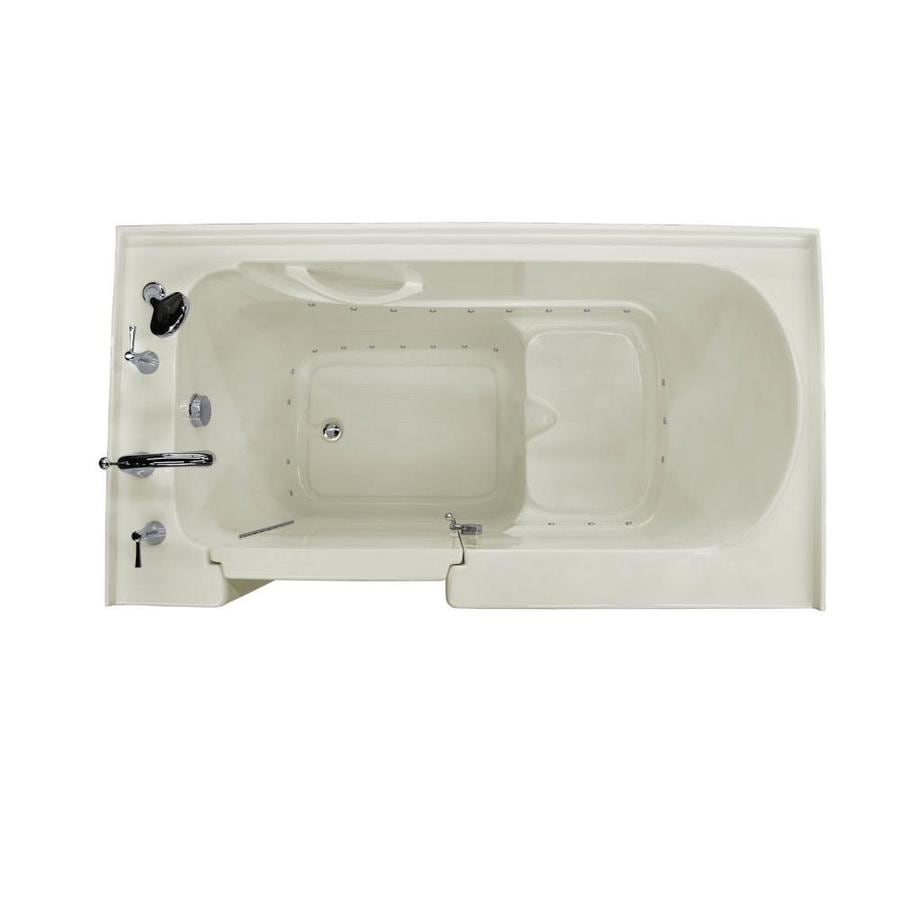 Endurance Acrylic Rectangular Walk-in Bathtub with Left-Hand Drain (Common: 60-in x 32-in; Actual: 40-in x 60-in x 32-in)