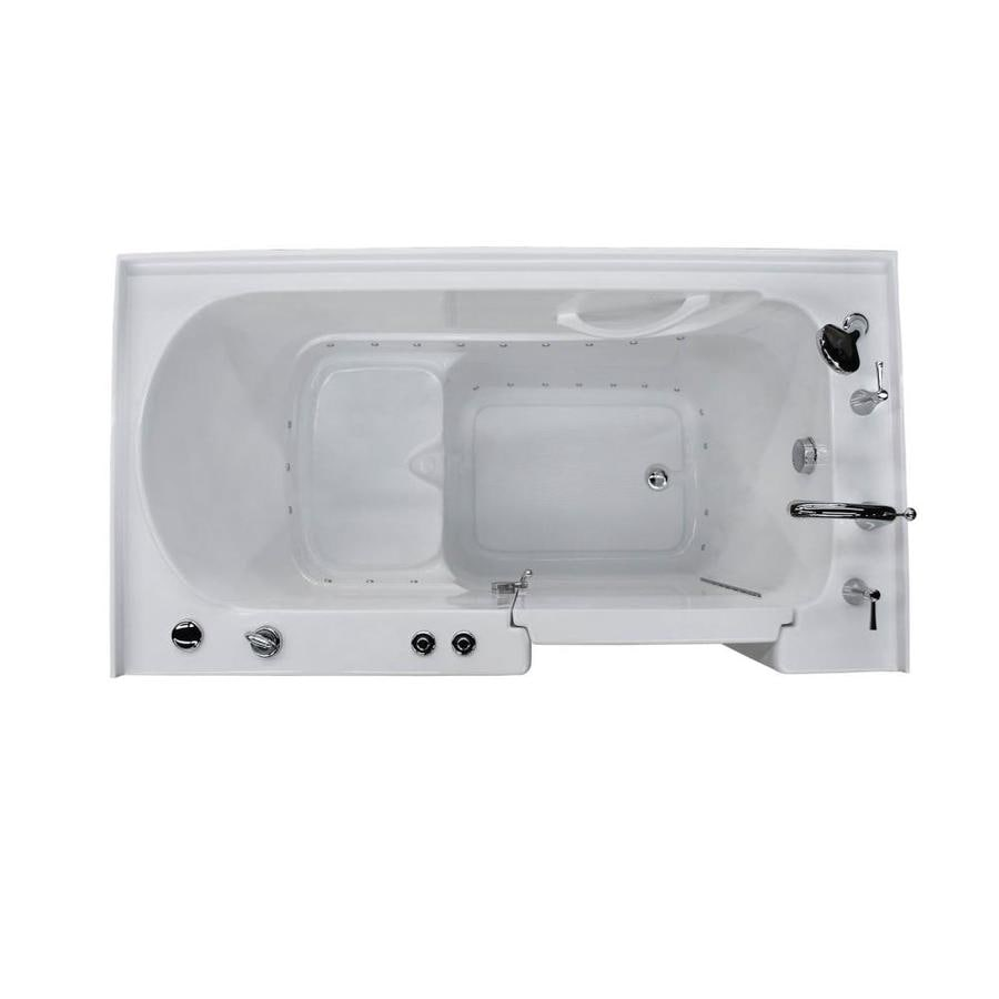 Endurance 60-in White Acrylic Walk-In Air Bath with Right-Hand Drain