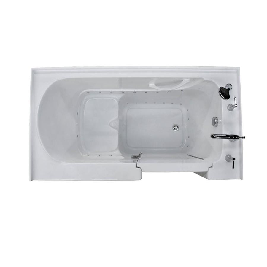 Endurance Acrylic Rectangular Walk-in Bathtub with Right-Hand Drain (Common: 60-in x 32-in; Actual: 40-in x 60-in x 32-in)