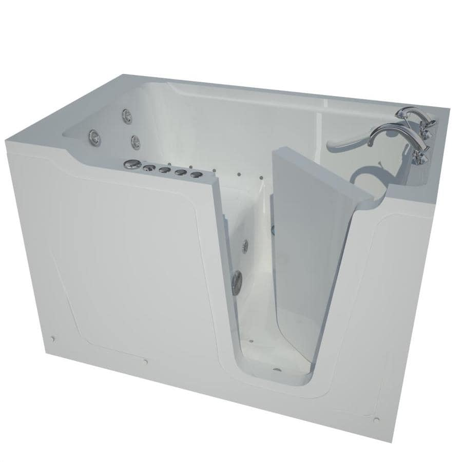 Shop Endurance 60-in White Gelcoat/Fiberglass Walk-In Whirlpool Tub ...