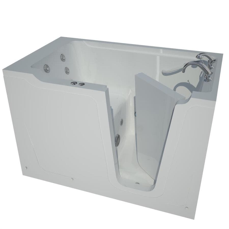Endurance 36-in White Gelcoat/Fiberglass Walk-In Whirlpool Tub with Right-Hand Drain