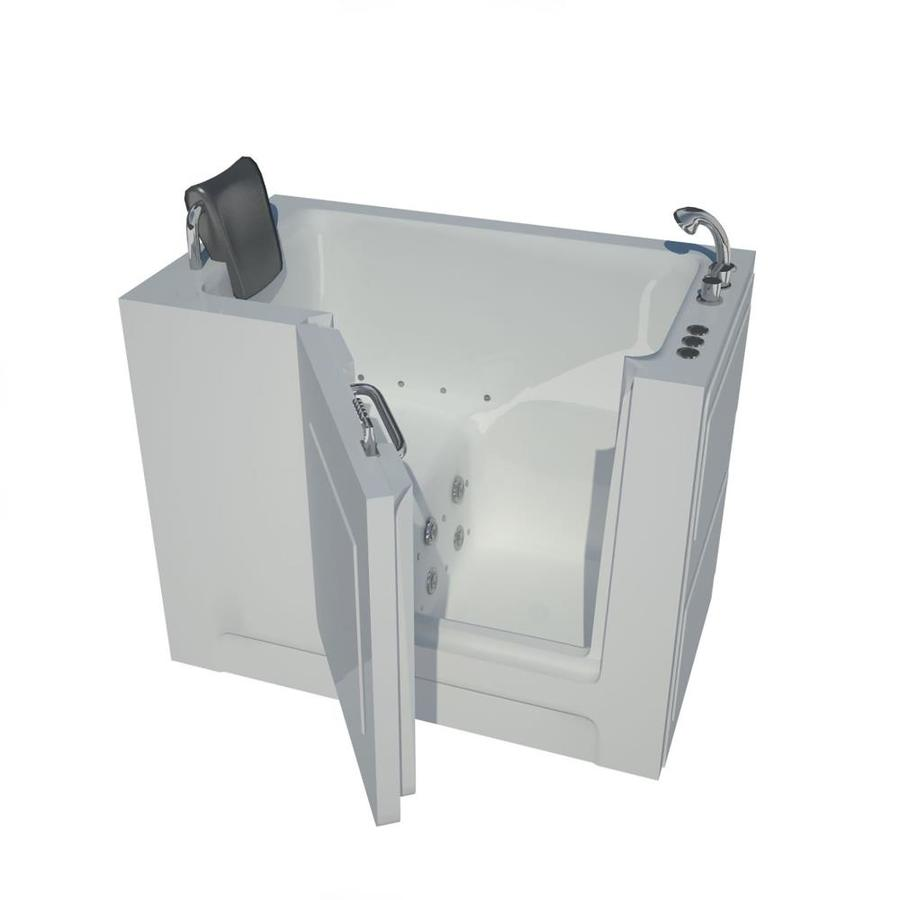 Endurance 48-in White Acrylic Walk-In Whirlpool Tub and Air Bath with Right-Hand Drain