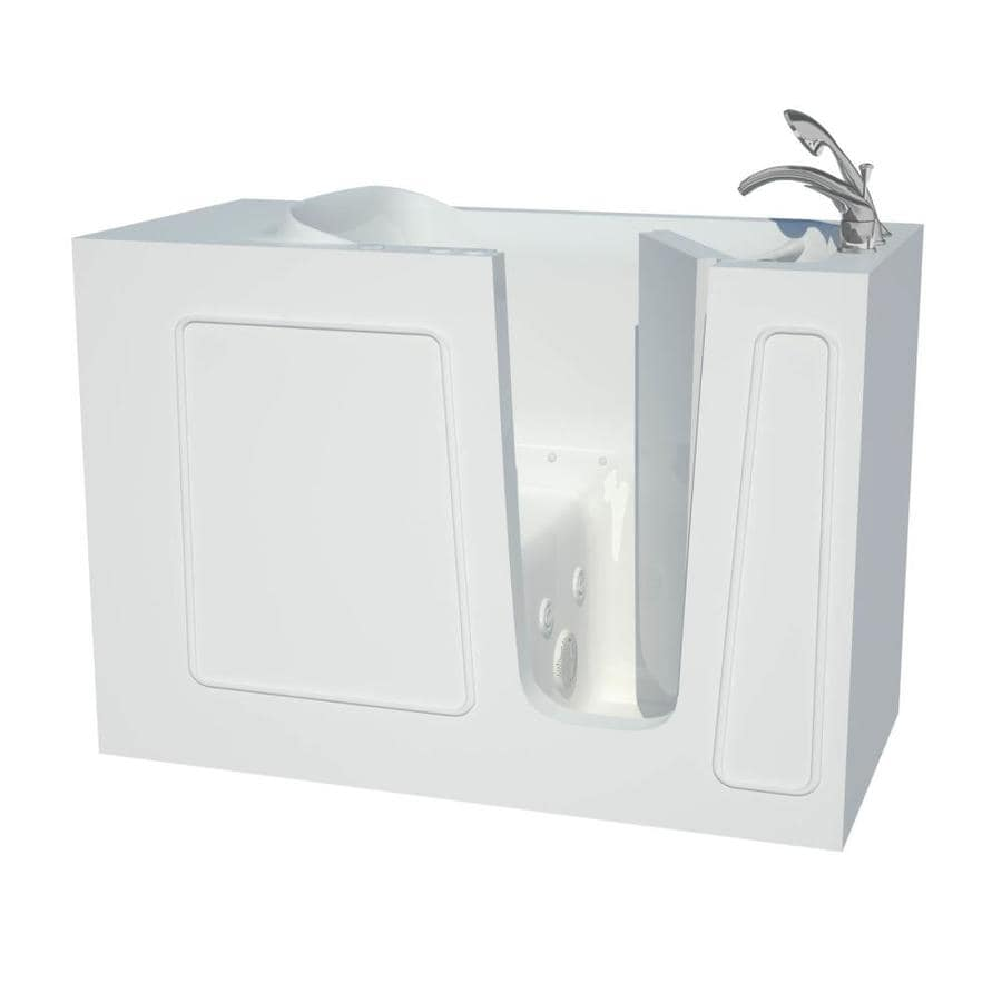 Shop Endurance 53-in White Gelcoat/Fiberglass Walk-In Whirlpool Tub ...