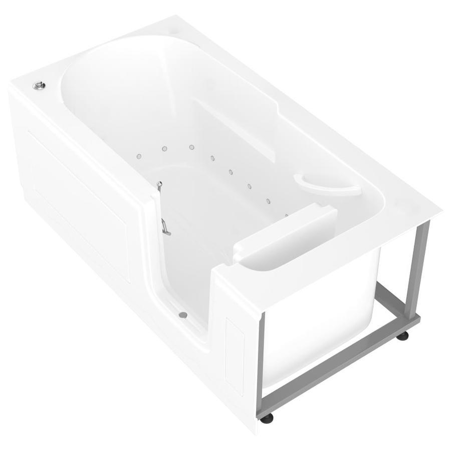 Endurance 60-in White Acrylic Walk-In Air Bath with Right-Hand Drain
