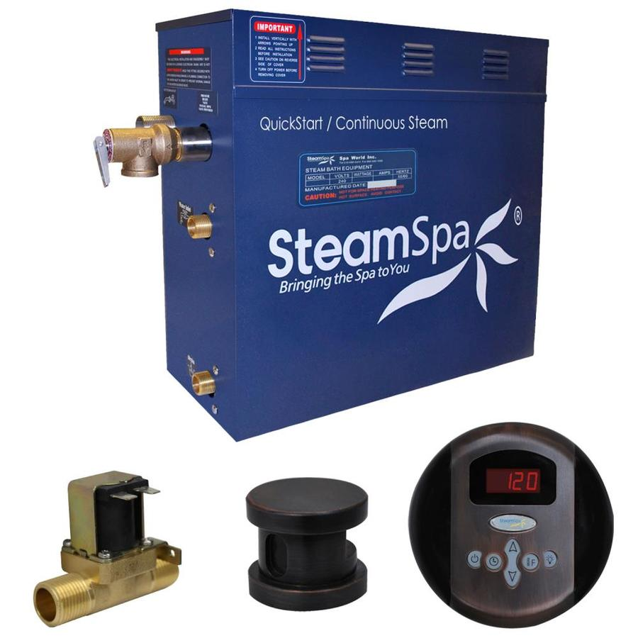 SteamSpa Oasis 9 KW QuickStart Acu Steam Bath Generator Package With Built In Auto