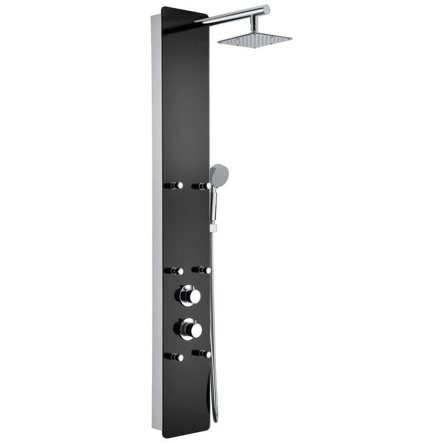 6 Jetted Full Body Shower Panel System With Heavy Rain