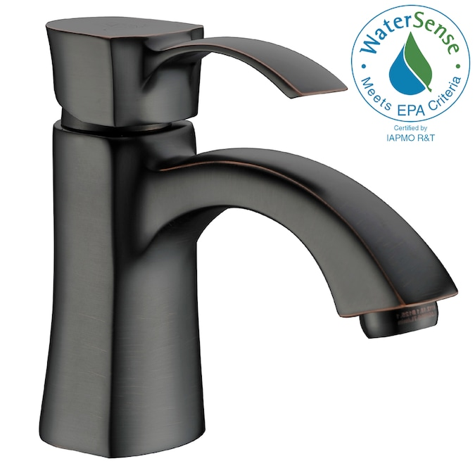 Anzzi Alto Brushed Nickel 1 Handle Single Hole Watersense Bathroom Sink Faucet In The Bathroom Sink Faucets Department At Lowes Com