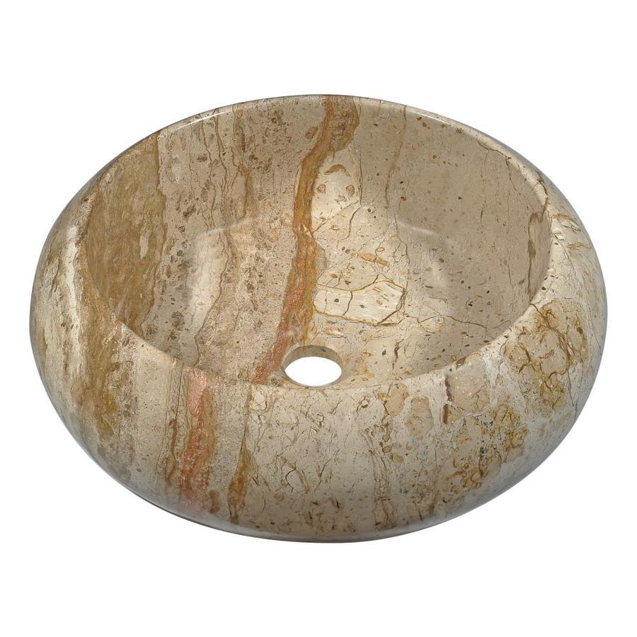 ANZZI Valley Crest Rain Coffee Stone Round Vessel Bathroom Sink