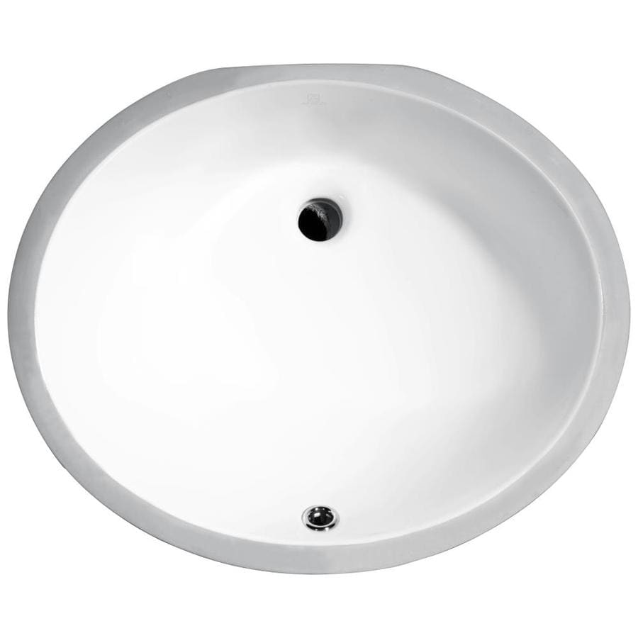 ANZZI Pegasus White Oval Undermount Bathroom Sink Overflow Drain