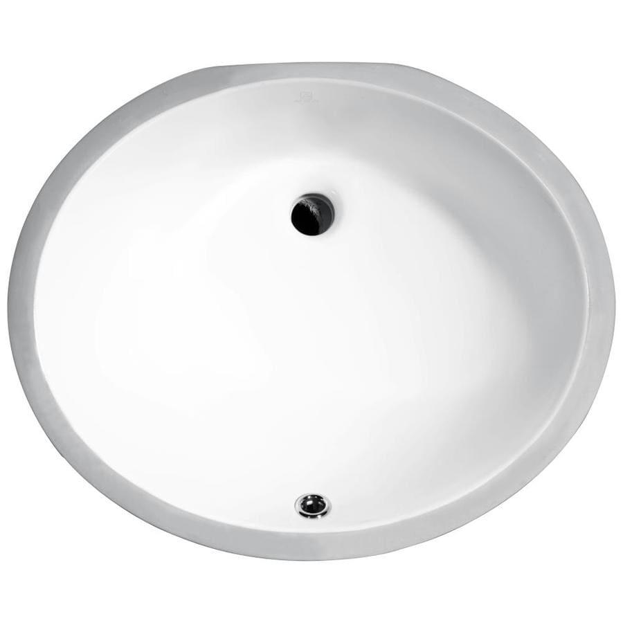 Shop Anzzi Pegasus White Oval Undermount Bathroom Sink