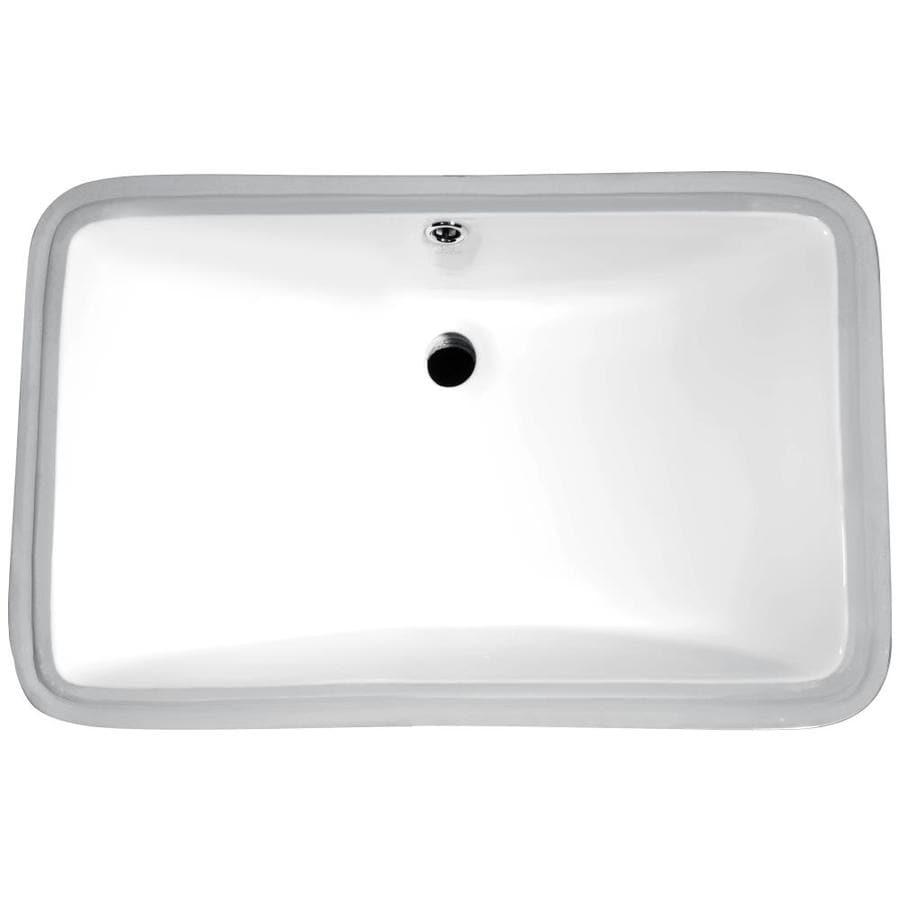 Anzzi dahlia white rectangular undermount bathroom sink - Rectangle undermount bathroom sink ...