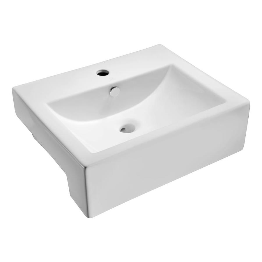 rectangular bathroom sink topmount shop anzzi vitruvius white rectangular vessel bathroom 20115