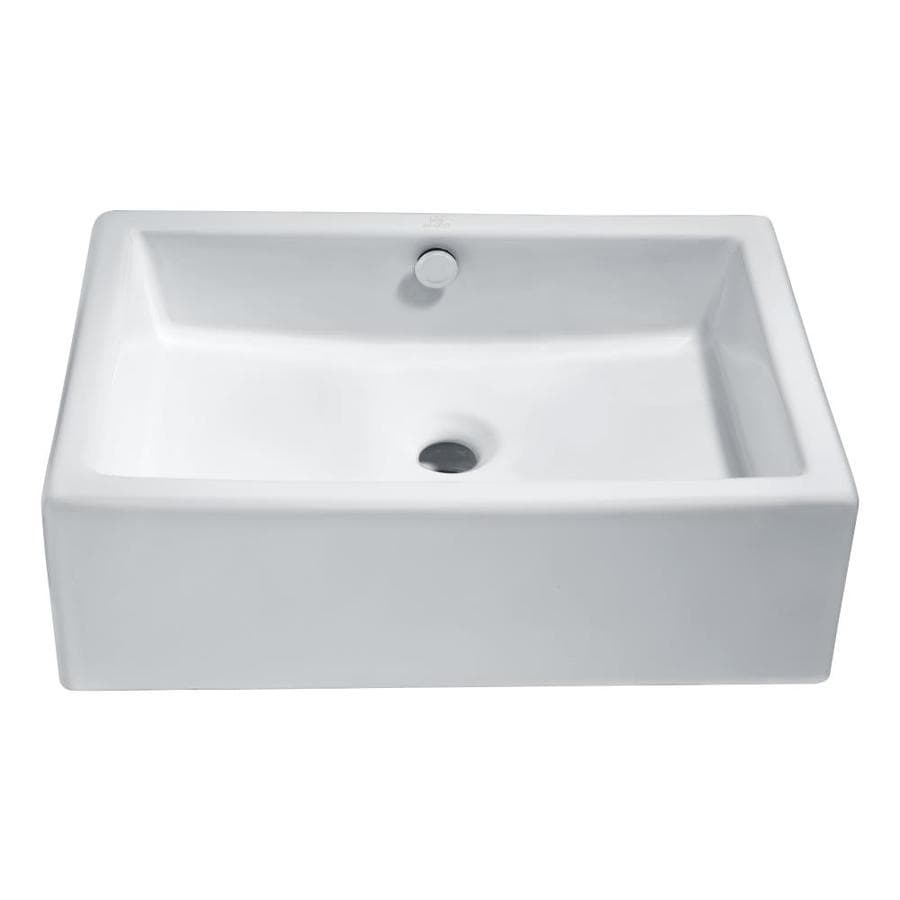 long rectangular bathroom sink shop anzzi deux white rectangular vessel bathroom sink at 19312