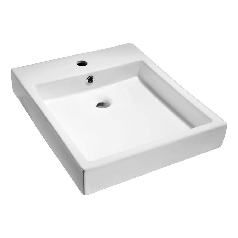 long rectangular bathroom sink shop anzzi deux white rectangular vessel bathroom sink 19312