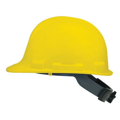 Safety Works Quick Adjusting Ratchet Yellow Hard Hat at